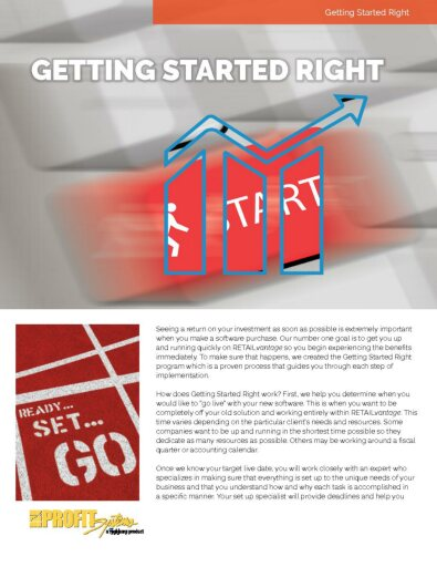 Getting Started Right Brochure