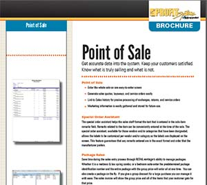 point of sale pos brochure retail pos systems solutions