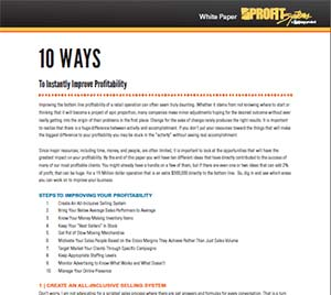 10 Ways to Improve Profitability White Paper