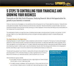 5 Steps to Controlling Your Financials and Growing Your Business White Paper