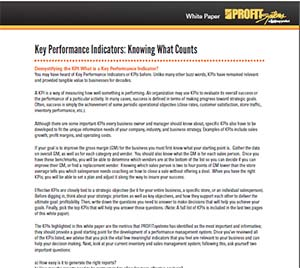 Key Performance Indicators – Knowing What Counts White Paper
