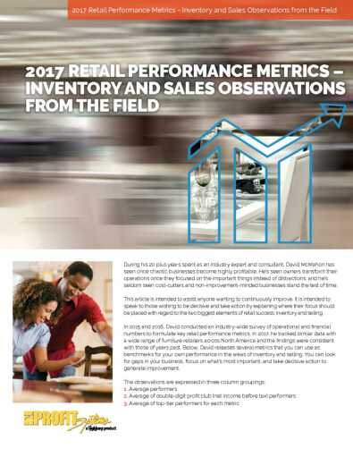 Retail Performance Metrics: Inventory and Sales White Paper