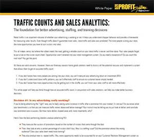 Traffic Counts and Sales Analytics White Paper